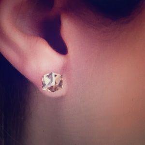NEW Swarovski Crystal Stud Earrings-Golden Shadow